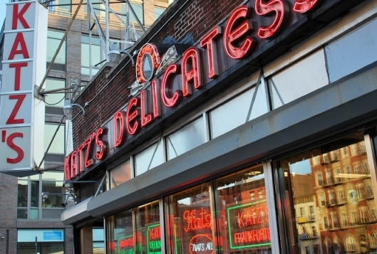 Katz's Delicatessen in New York's Bowery.